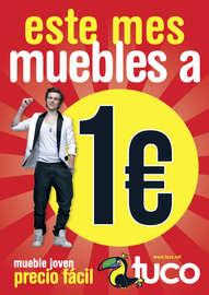 Este mes, muebles a 1€