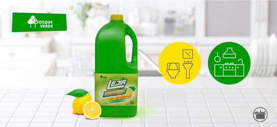 Ofertas de Mercadona, Nueva Lejía con detergente limón Bosque Verde