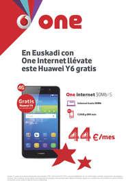 En Euskadi con One internet llévate este Huawei Y6 gratis