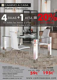 4 sillas + 1 mesa = 20% dto. mínimo