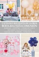 Ofertas de Party Fiesta, Catálogo bouquets de globos boda-bautizo-comunión