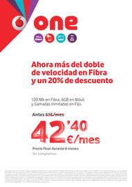 Ahorra más del doble de velocidad en fibra y un 20% de descuento