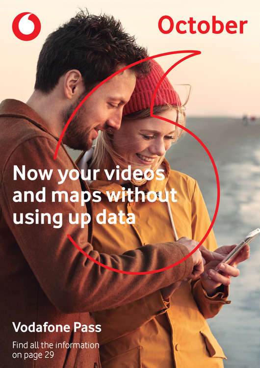 Ofertas de Vodafone, October - Now your videos and maps without using up data