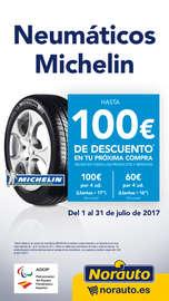 Neumáticos Michelin - Hasta 100€ de descuento