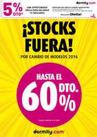 Ofertas de Dormity.com, ¡Stocks fuera!
