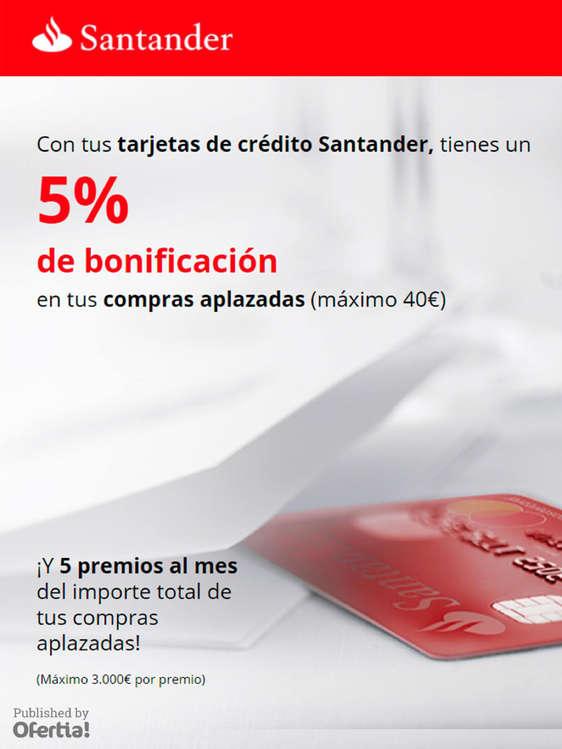 Ofertas de Santander, 5% de bonificación