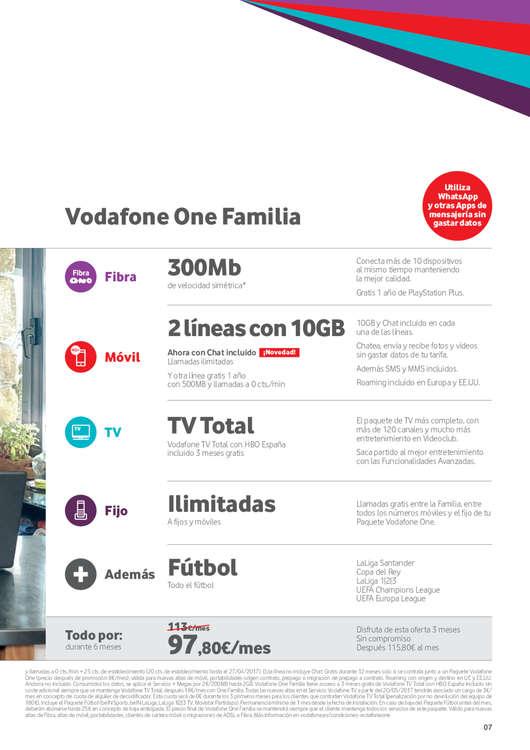 Ofertas de Vodafone, Mayo - Junio