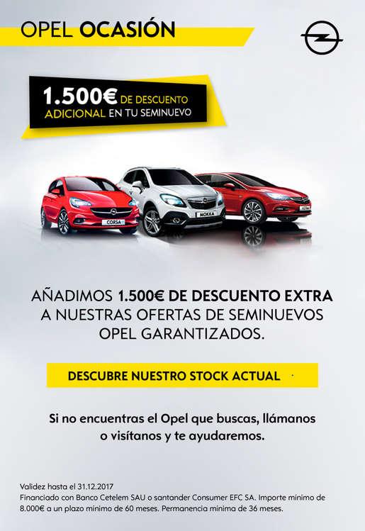 Ofertas de Opel, 1.500€ de descuento adicional en tu seminuevo - Vara de Quart