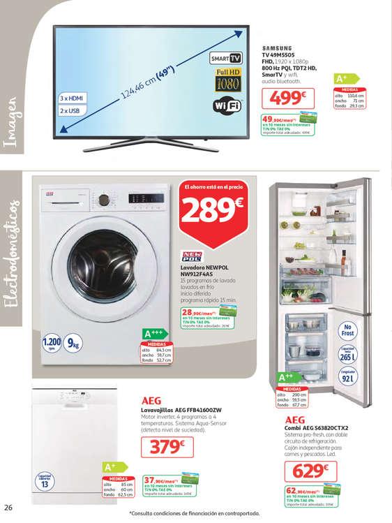 Alcampo electrodom sticos ofertas y cat logos destacados - Precios electrodomesticos alcampo ...