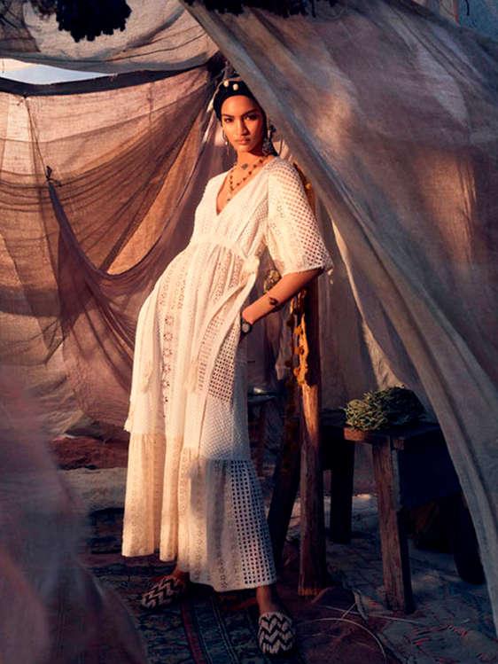 Vestidos ibicencos mujer zara
