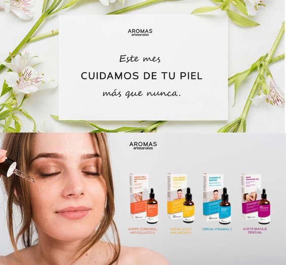 Ofertas de Aromas Artesanales, Cuidamos tu piel