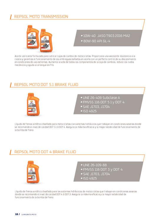 Ofertas de Repsol, Catálogo de Lubricantes Moto