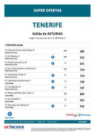 Tenerife Febrero