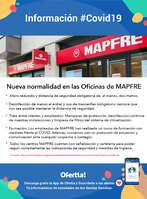 Ofertas de MAPFRE, Nueva normalidad en las oficinas de MAPRFE - #Covid19