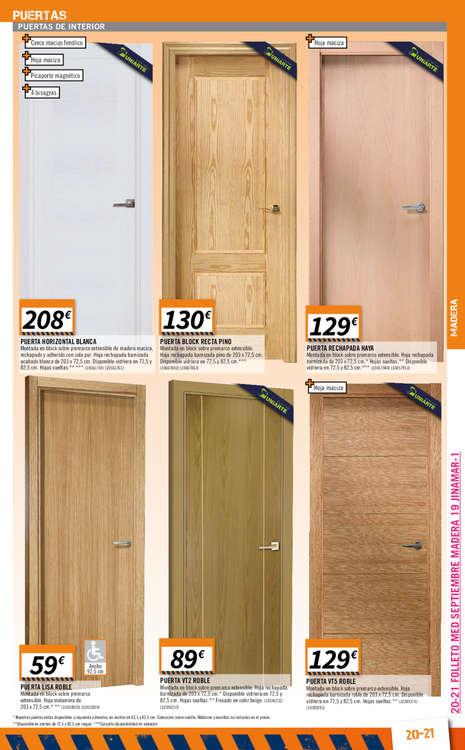 Bricomart puertas de interior precios perfect us laca for Puertas correderas bricomart