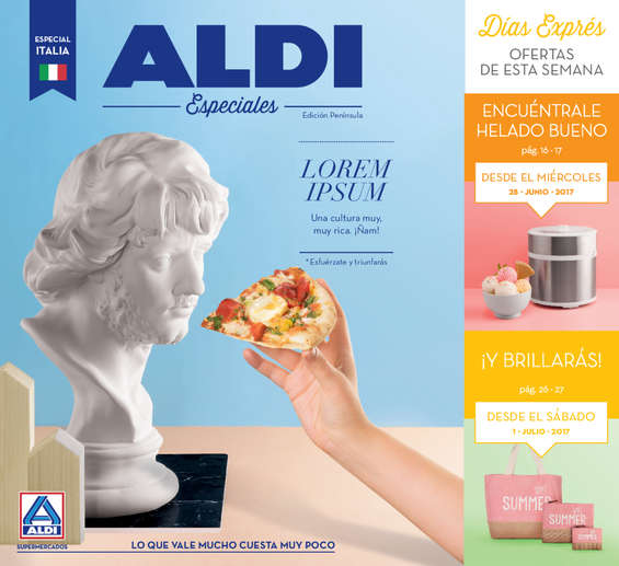 Ofertas de ALDI, Lorem Ipsum - Una cultura muy, muy rica. ¡Ñam!