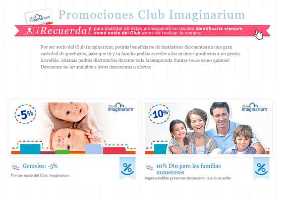 Ofertas de Imaginarium, Promociones Club Imaginarium