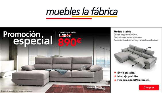 Ofertas de Muebles La Fábrica, Promociones
