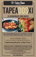 Ofertas de Cañas y Tapas, ¡Tu acompañante come gratis!