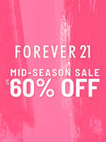 Ofertas de Forever 21, Mid-Season Sale. Up to 60% off