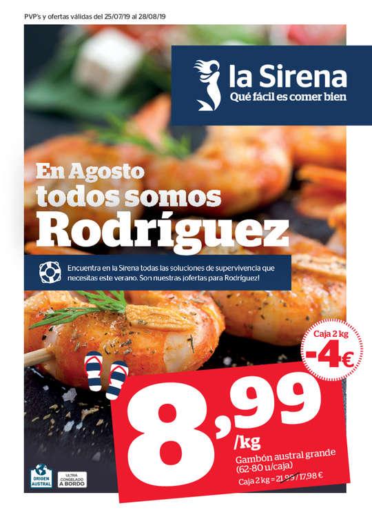 Ofertas de La Sirena, En Agosto todos somos Rodríguez