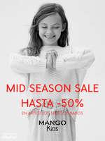 Ofertas de Mango Kids, Mid Season Sale hasta -50%