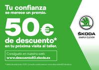 50€ de descuento en tu próxima visita al taller