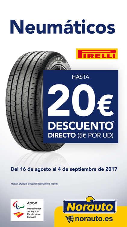 Ofertas de Norauto, Neumáticos Pirelli - Hasta 20€ de descuento directo