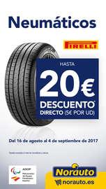 Neumáticos Pirelli - Hasta 20€ de descuento directo