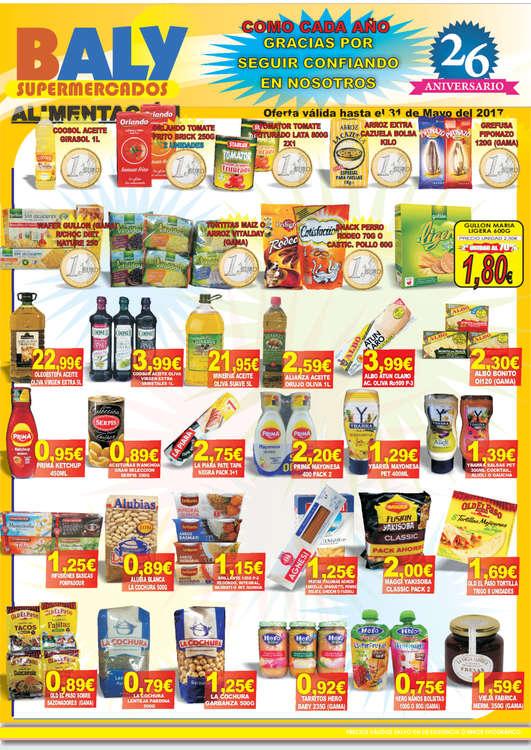 Ofertas de Baly Supermercados, Ofertas
