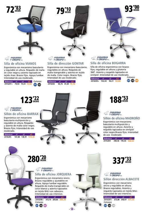 Comprar Sillas de oficina barato en Valencia - Ofertia