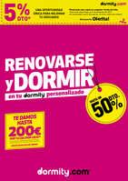 Ofertas de Dormity.com, Renovarse y dormir