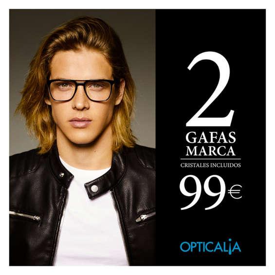 Ofertas de Opticalia, 2 gafas de marca 99 €