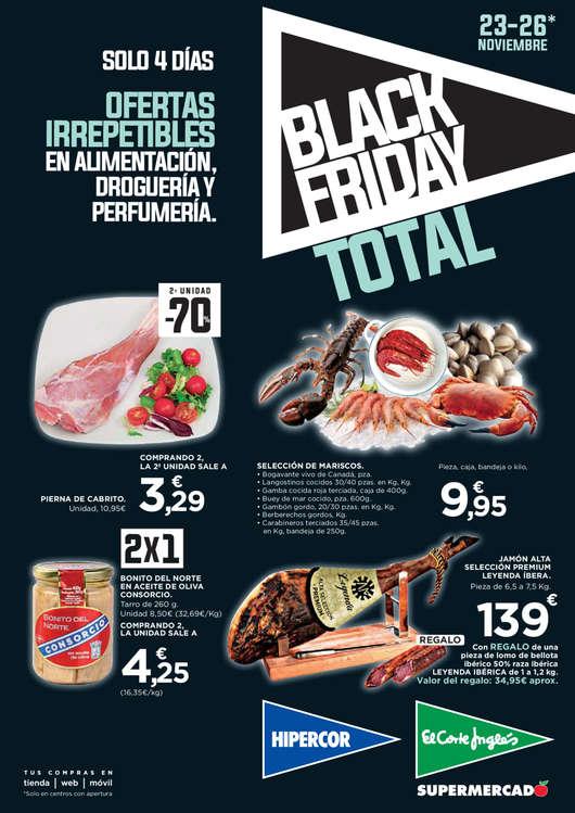 Ofertas de Hipercor, Black Friday. Ofertas irrepetibles en alimentación, droguería y perfumería