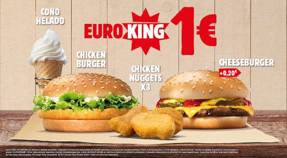 Ofertas de Burger King, Euroking