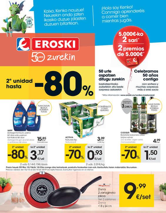 Ofertas de Eroski, 2a unidad hasta el -80%