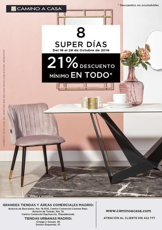 Ofertas de Camino A Casa, 8 SUPER DÍAS SEPTIEMBRE-OCTUBRE 2019