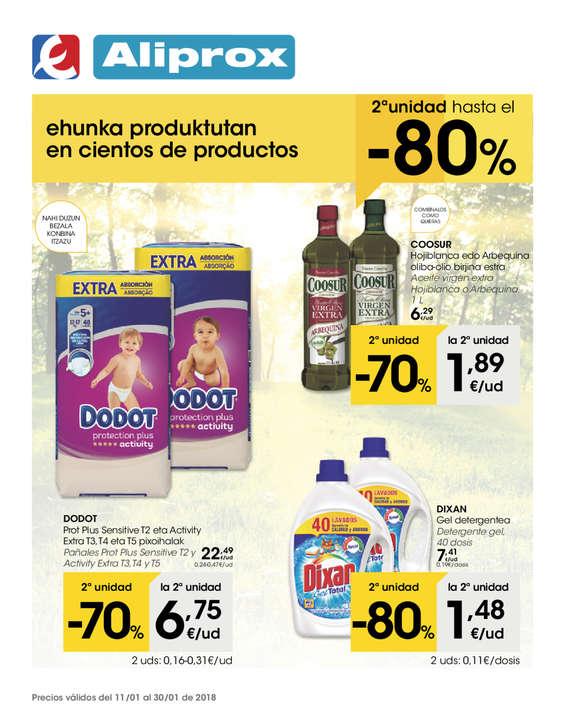 Ofertas de Eroski, Ehunka produktutan en cientos de productos