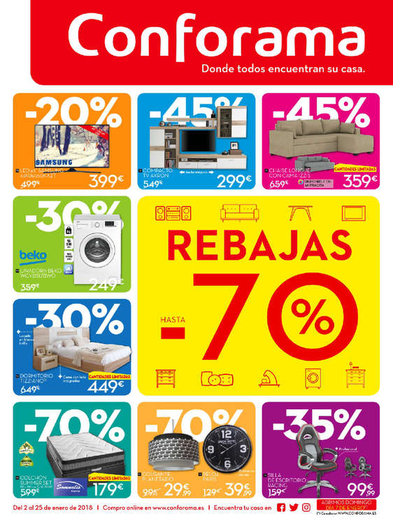 Conforama ofertas cat logo y folletos ofertia for Catalogos de sofas y precios