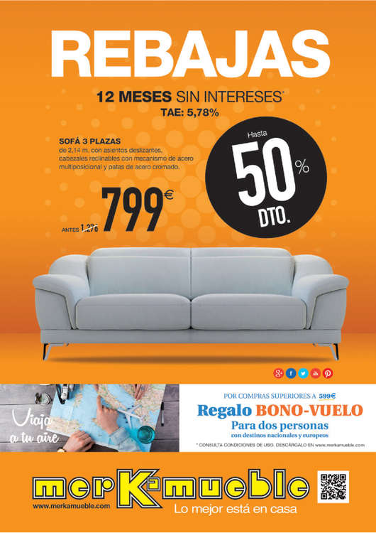 Merkamueble ofertas cat logo y folletos ofertia - Merkamueble sofas ofertas ...