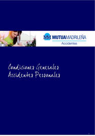 Condiciones generales. Accidentes personales