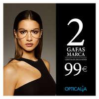 2 gafas de marca 99 €