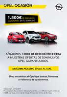 Ofertas de Opel, 1.500€ de descuento adicional en tu seminuevo