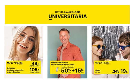 Ofertas de Òptica Universitària, Promociones